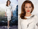 Angelina Jolie In Atelier Versace - 'Maleficent' London Photocall