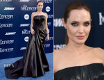 Angelina Jolie In Atelier Versace - 'Maleficent' World Premiere