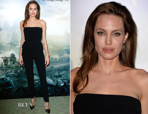 Angelina Jolie In Ralph Lauren - 'Maleficent' Paris Photocall