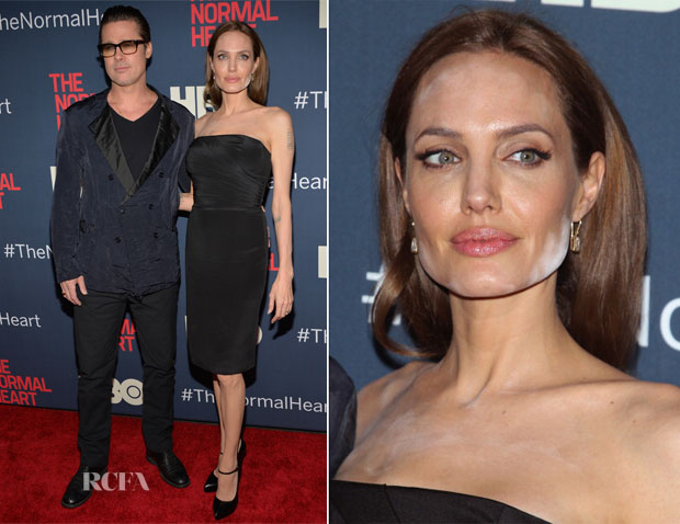 Angelina Jolie In Saint Laurent - 'The Normal Heart' New York Premiere