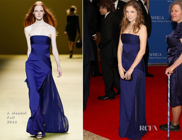 Anna Kendrick In J Mendel - 100th Annual White House Correspondents' Association Dinner