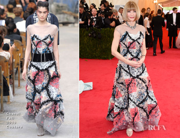 Anna Wintour In Chanel Couture - 2014 Met Gala