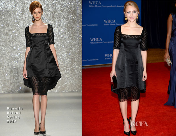 AnnaSophia Robb In Pamella Roland - 100th Annual White House Correspondents' Association Dinner