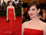 Anne Hathaway In Calvin Klein - 2014 Met Gala