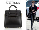 Anne Hathaway's Alexander McQueen 'The Heroine' Leather Tote
