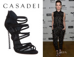 Anne Hathaway's Casadei Stiletto Sandals