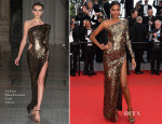Arlenis Sosa In Julien Macdonald - 'Two Days, One Night' ('Deux Jours, Une Nuit') Cannes Film Festival Premiere