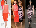 Ashley Madekwe & Ahna O'Reilly In Monique Lhuillier - Monique Lhuillier Pre-Fall 2014 Luncheon