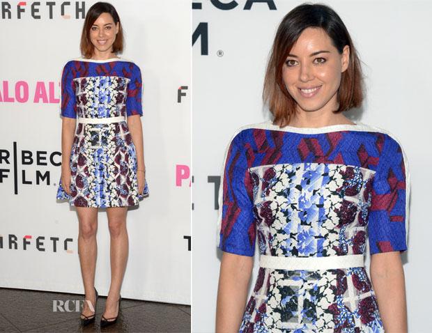Aubrey Plaza In Peter Pilotto - 'Palo Alto' LA Premiere