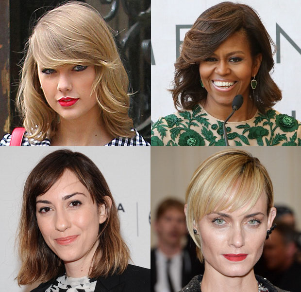 Beauty Trend Spotting Side-Swept Bangs