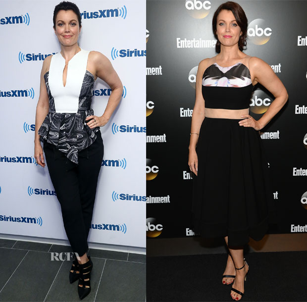 Bellamy Young In Robert Rodriguez, Max Mara & House of Ronald - SiriusXM Studios & Upfronts