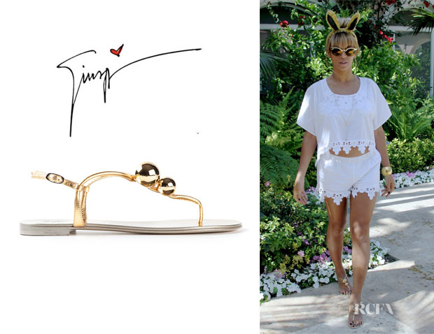 Beyonce Knowles' Giuseppe Zanotti Strappy Sandals