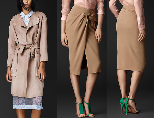 Beyonce Knowles In Burberry Prorsum