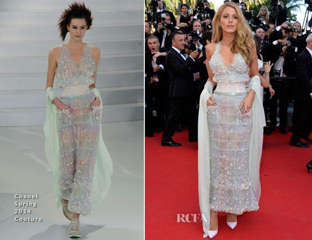 c2edbeec24e8 Blake Lively In Chanel Couture -  Mr Turner  Cannes Film Festival Premiere