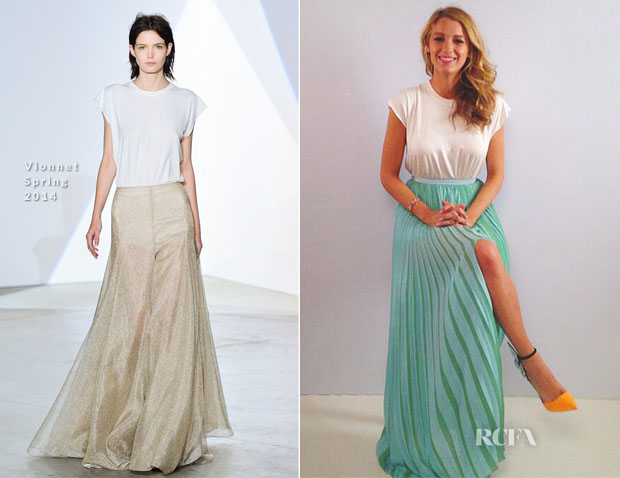 Blake Lively In Vionnet - L'Oreal Photocall