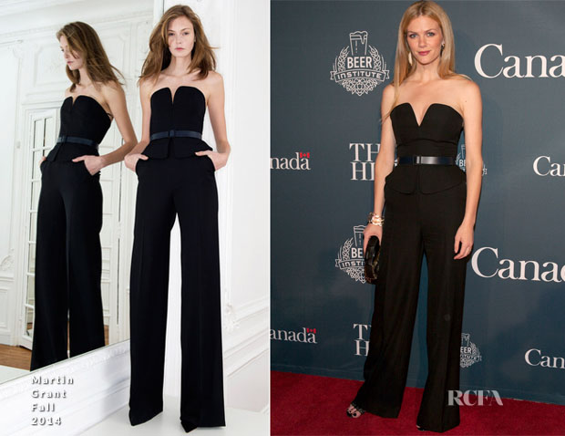 Brooklyn Decker In Martin Grant - The Hill And Entertainment Tonight Celebrate The 100th WHCD Weekend