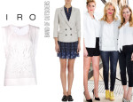 Cameron Diaz' Iro 'Clark' Top And Band of Outsiders Shrunken Blazer