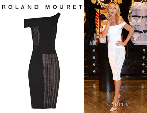 Candice Swanepoel's Roland Mouret 'Mable' Stretch-Jersey Dress