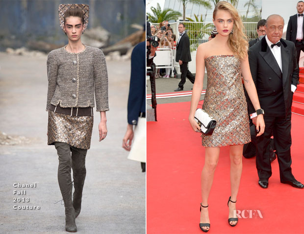 Cara Delevingne In Chanel Couture - 'The Search' Cannes Film Festival Premiere