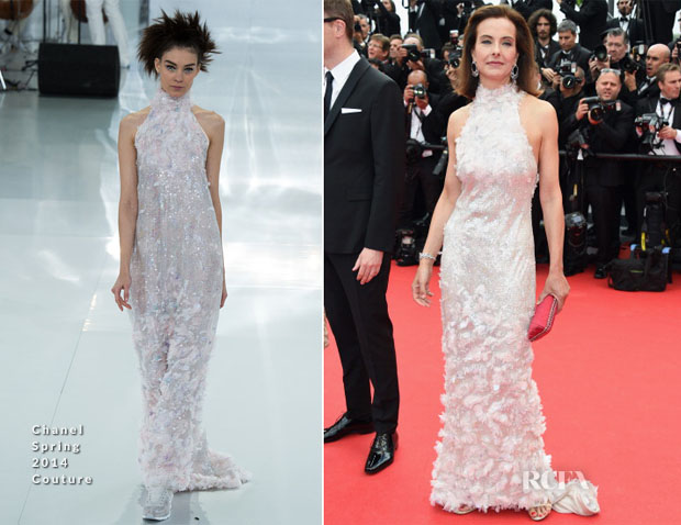 Carole Bouquet In Chanel Couture - 'Grace of Monaco' Cannes Film Festival Premiere & Opening Ceremony