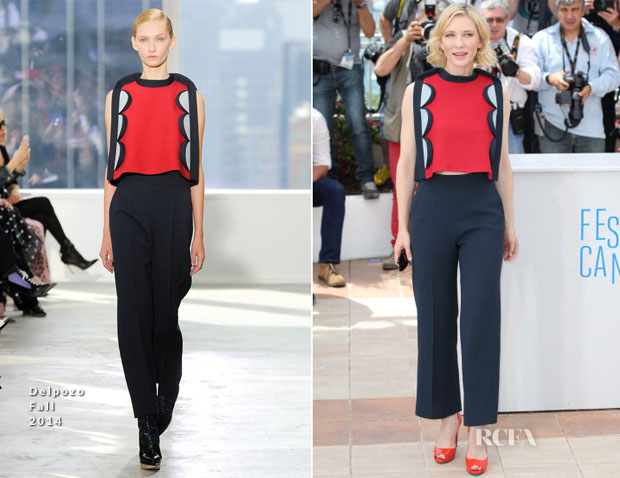 Cate Blanchett In Delpozo - 'How To Train Your Dragon 2' Cannes Film Festival Photocall