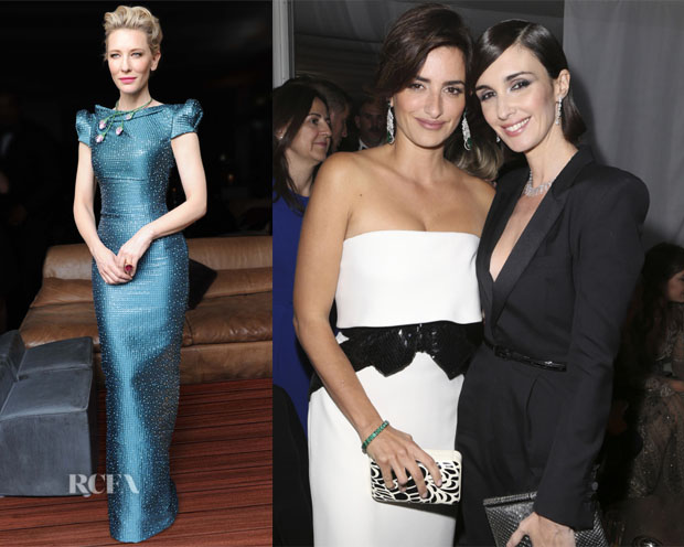 Cate Blanchett & Penelope Cruz In Armani Privé - Chopard Party