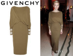 Cate Blanchett's Givenchy Jersey Dress With Embroidered Cuffs