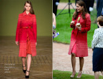 Catherine, Duchess of Cambridge In Jonathan Saunders - Duke and Duchess Of Cambridge Visit Scotland