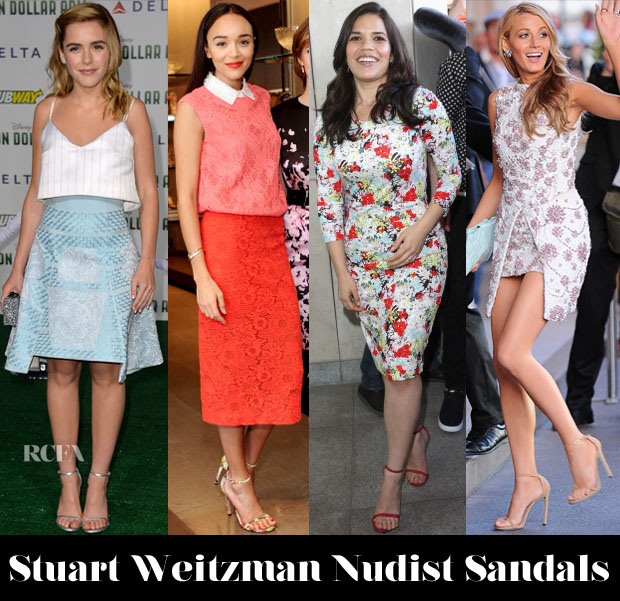 Celebrities Love Stuart Weitzman 'Nudist' Sandals