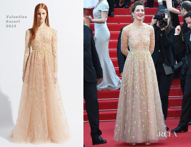 Celine Sallette In Valentino - 'Two Days, One Night'  ('Deux Jours, Une Nuit') Cannes Film Festival Premiere
