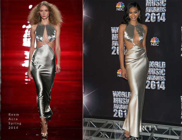 Chanel Iman in Reem Acra - world music awards