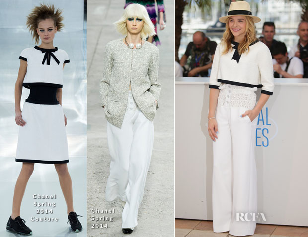 Chloe Moretz In Chanel - 'Clouds Of Sils Maria' Cannes Film Festival Photocall
