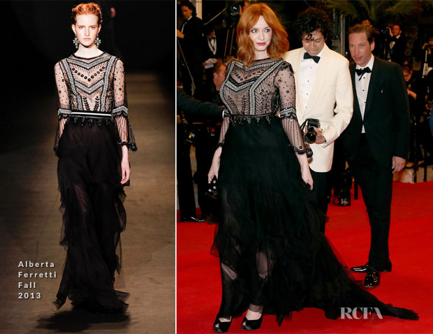 Christina Hendricks In Alberta Ferretti - 'Lost River' Cannes Film Festival Premiere