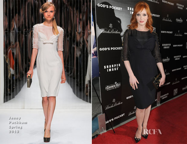 Christina Hendricks In Jenny Packham - 'God's Pocket' LA Premiere2