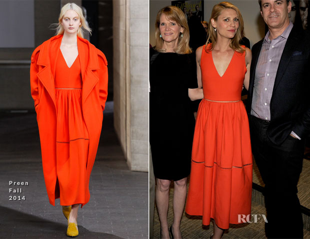 Claire Danes In Preen - 'Homeland' Season 3 Finale Screening2