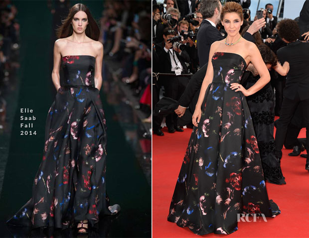Clotilde Courau In Elie Saab - 'How To Train Your Dragon 2′ Cannes Film Festival Premiere