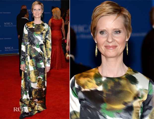 Cynthia Nixon In Tibi - 100th Annual White House Correspondents' Association Dinner
