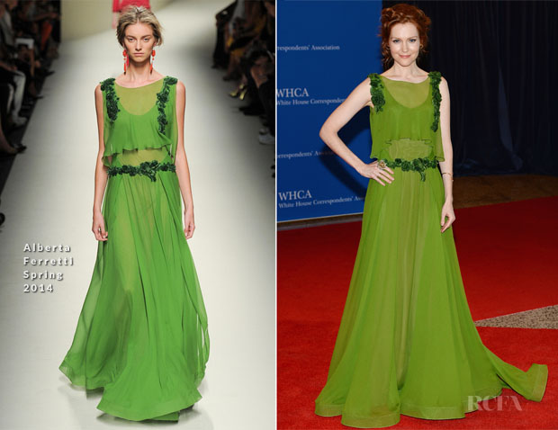 Darby Stanchfield In Alberta Ferretti - 100th Annual White House Correspondents' Association Dinner