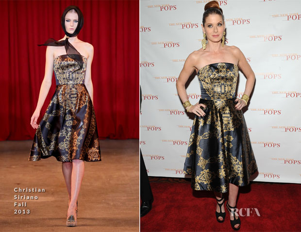 Debra Messing In Christian Siriano - The New York Pops 31st Birthday Gala