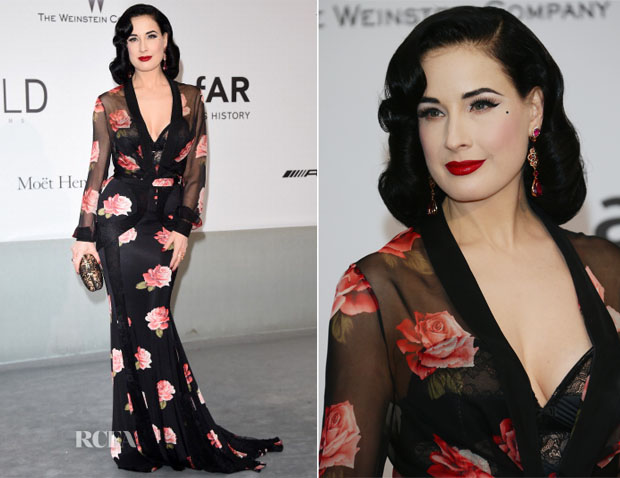 Dita Von Teese In Blumarine - amfAR Cinema Against Aids Gala