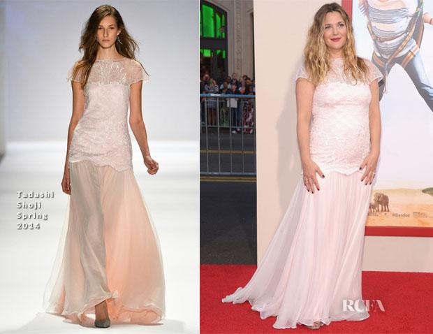 Drew Barrymore In Tadashi Shoji - 'Blended' LA Premiere
