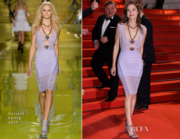Elena Lyadova In Versace -  'Leviathan' Cannes Film Festival Premiere