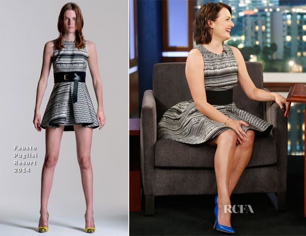 Elisabeth Moss In Fausto Puglisi - Jimmy Kimmel Live
