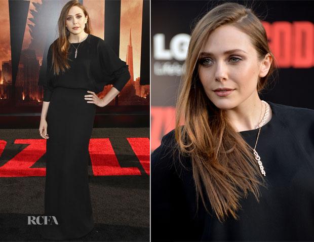 Elizabeth Olsen In Chloé - 'Godzilla' LA Premiere