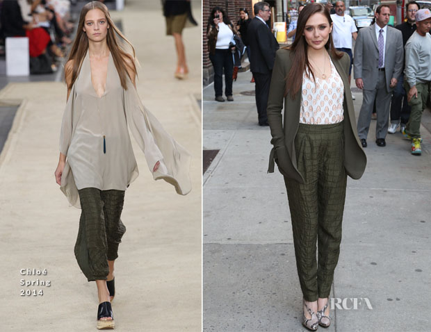 Elizabeth Olsen In Chloé - Late Show with David Letterman
