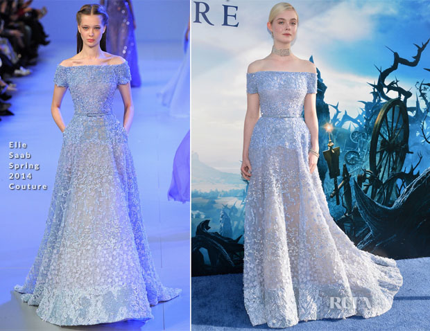 Elle Fanning In Elie Saab Couture - 'Maleficent' World Premiere