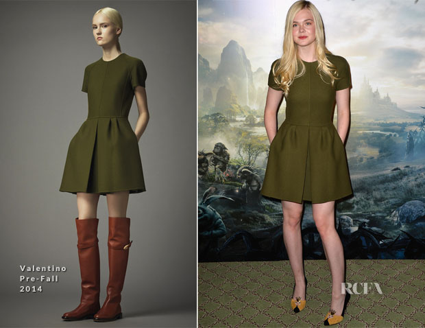 Elle Fanning In Valentino - 'Maleficent' Paris Photocall