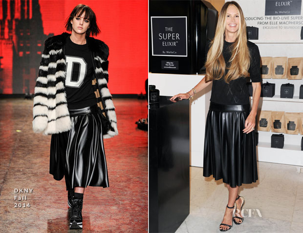 Elle Macpherson In DKNY - The Super Elixir Launch