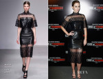 Emily Blunt In David Koma - 'Edge Of Tomorrow' Paris Premiere