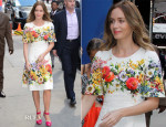 Emily Blunt In Dolce & Gabbana - Good Morning America